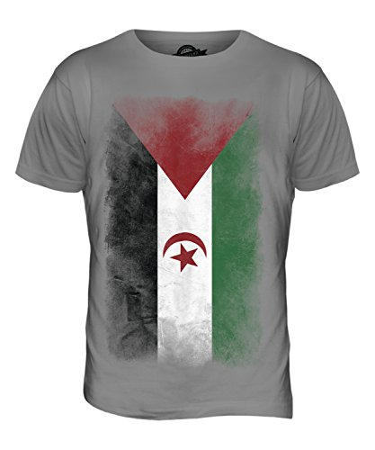 CandyMix Westsahara Verblichen Flagge Herren T Shirt Hellgrau
