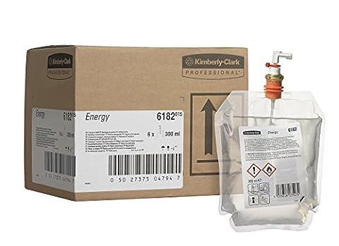 Kimberly-Clark Professional 6182 Recharge de parfum ENERGY, 300mL, Jaune (Pack de 6)