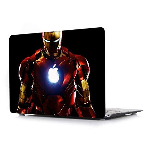 L2W Hülle Für Apple MacBook Air (Old) 13,3 Zoll Modell A1466/A1369 Laptop Computer Zubehör Plastik Drucken Schutz Cover kreatives Design Hart Case Tasche,Ironman -
