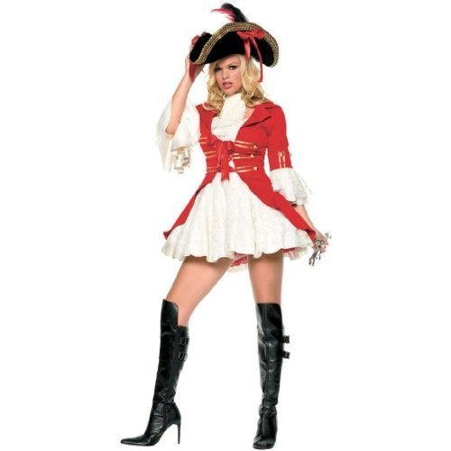 ADULT WOMENS CAPTAIN BOOTY SEXY PIRATE HALLOWEEN FANCY DRESS COSTUME - X-LARGE by (Booty Pirate Kostüme Erwachsenen)
