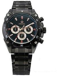 ORKINA YI-WAC14-03-037 - Reloj para hombres, correa de acero inoxidable color negro