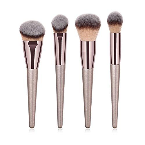 aloiness Pinceaux Maquillage Beauté Maquillage Brosse Cosmétique Professionnel 4pcs Set/Kit Pour Professionnels ou Amateurs