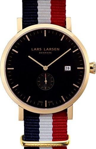 Lars Larsen - 131GBAN - Montre Homme - Quartz Analogique - Bracelet Tissu Multicolore
