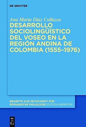 Portada del libro Desarrollo Sociolinguistico del Voseo En La Region Andina de Colombia (1555 1976) (Beihefte Zur Zeitschrift Fur Romanische Philologie)
