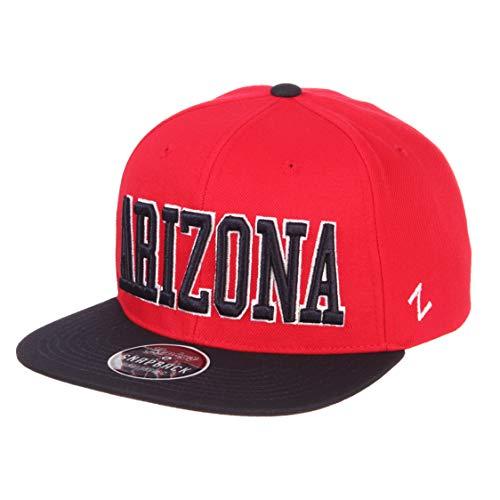 perstar Snapback Cap - NCAA Flat Bill, One Size Adjustable Baseball Hat, Arizona Wildcats ()