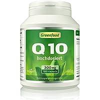 Greenfood Coenzym Q10, 200mg, EXTRA hochdosiert, 180 Kapseln - mit Vitamin E preisvergleich bei billige-tabletten.eu