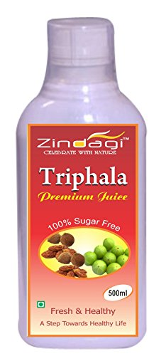 Zindagi Triphala Juice-100% Natural, Concentrate & Pure-Herbal Sugar Free Drink (500ml)  available at amazon for Rs.140