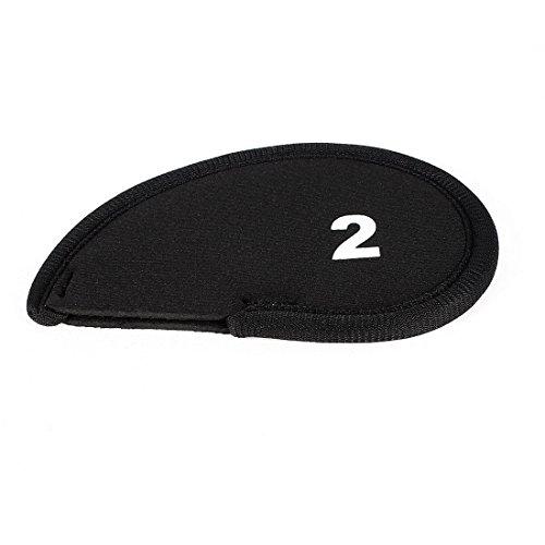 sourcingmap® Golfschläger-Kopf, Neopren, Schwarz, 2-Keil Schlägerkopfhüllen für Eisen Schutz