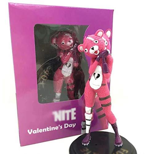 ronzgou figura fortnite oso amoroso mcfarlane cuddle team leader 15cm anime pvc coleccion - fortnite oso rosa animado