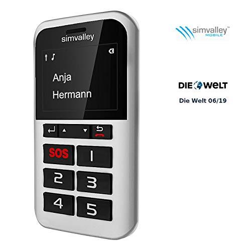 simvalley MOBILE 5 Tasten Senioren Handy: 5-Tasten-Handy Pico RX-901 mit Garantruf Premium (SOS Telefon)