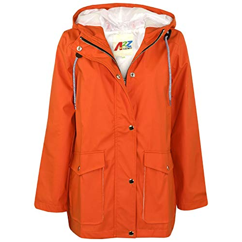 A2Z 4 Kids® Kinder Mädchen Jungen PU Regen Mantel Jacken Windbreaker - PU Raincoat 497 Orange 9-10 (Herren Orange Regen Jacke)