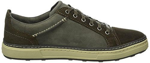 Clarks Herren Lorsen Edge Sneakers Grau (Grey Combi Leather)