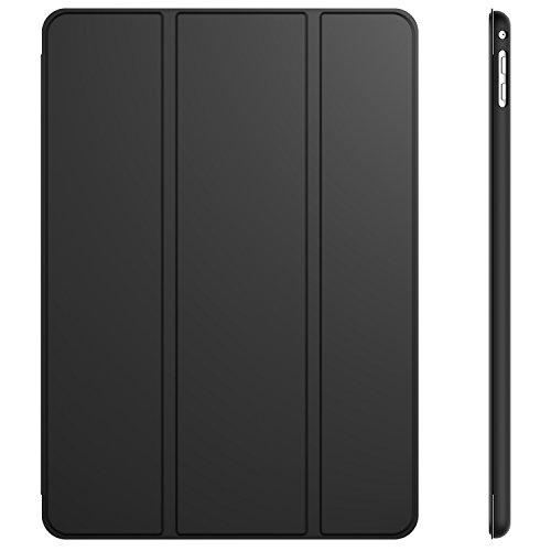 JETech 3040- Funda para iPad Air 2, Carcasa con Soporte Función, Auto-Sueño/Estela, Negro