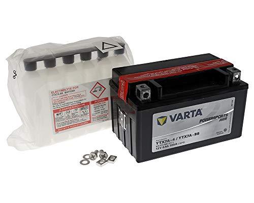 Batterie VARTA Powersports AGM YTX7A-BS / YTX7A-4 für KAWASAKI EX250 Ninja 250R 250ccm 09-11 [ inkl.7.50 EUR Batteriepfand ] (09 Ninja 250r Kawasaki)