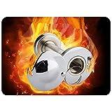 WJTZ-FYH Puerta de seguridad ojo de gato alarma antirrobo puerta espejo puerta ojo acero metal con tapa trasera cerradura mirilla, A12, plateado blanco