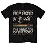 Pink Floyd - Rock Off Officially Licensed - T-Shirt Camiseta Vintage T Shirt Vintage Stripes Dark Side of The Moon (X-Large)