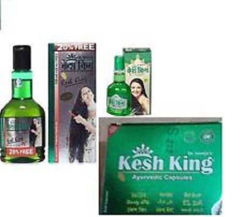 Set Of Kesh King Herbal Hair Loss Treatment Packet(Oil +Shampoo+Capsules)Pack