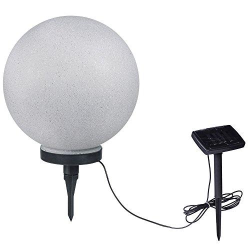 LED Solar Leuchte Steck Garten Kugel Beleuchtung 25cm Außen Lampe IP44 Stein Optik Globo 33773