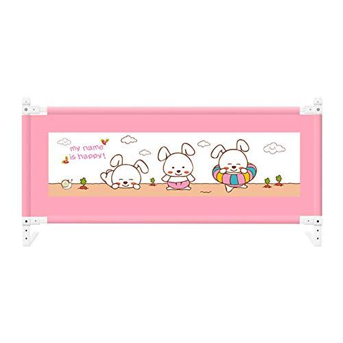 AIBAB Bett Zaun Schutzzaun Fallen Bettgitter Bett Stoßstange Vertikale Anhebung 8-Gang-Einstellung Rosa 1.5m