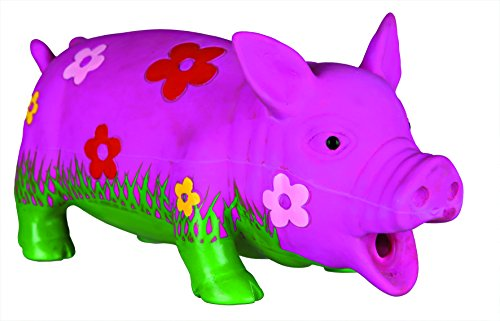 Trixie Cochon en Latex avec fleurs et son animal, 20cm