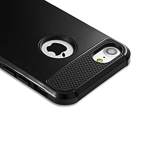 Coque iPhone7, iphone 7 case cover 2 en 1 Bumper en PC TPU[Militaire Garde][Dual Layer] (Custodia Protettiva In Gomma)