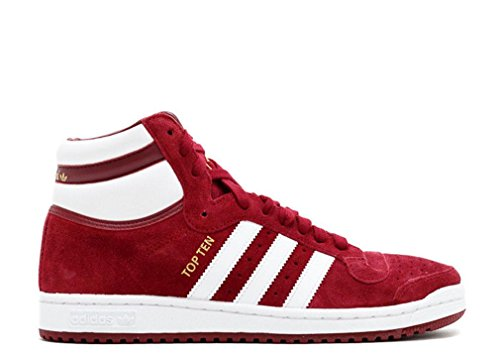 Adidas Originals Top Ten Salut chaussure de basket, blanc / rouge / bleu, 8 M Us