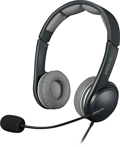 Price comparison product image Speedlink Sonid USB Stereo Headset with Microphone - Black / Grey