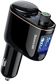 Baseus Locomotive Bluetooth FM Transmitter MP3 Araç Şarjı 2x USB 3.4A