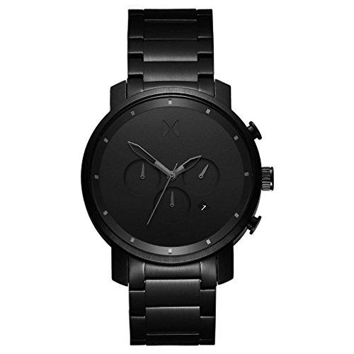 MVMT Herren Watch Uhr Chronograph All Black Edelstahl Armband MCC01BB