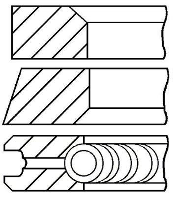 Goetze Engine 08-427500-00 Segments de pistons