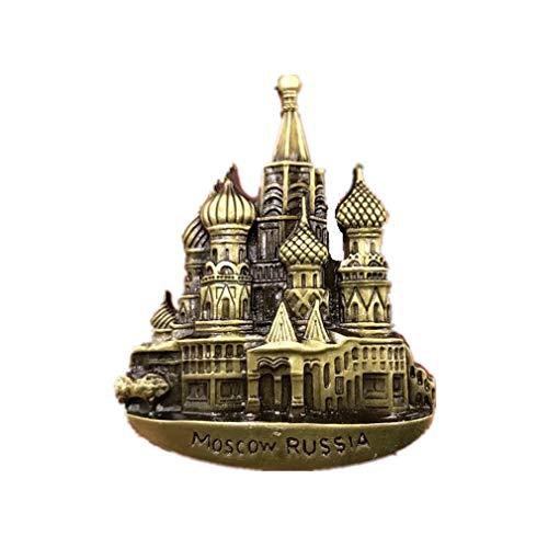 Bella Magnet Frigo Aimant Frigo Aimant Réfrigérateur Métal Voyage Vacances Souvenir de Europe Russie Moscou Saint Basil's Cathedral Fridge Magnet Sticker Décor Maison