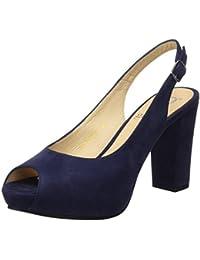 Audley Pumps 15078 - Zapatos de vestir de ante para mujer, color azul, talla 37