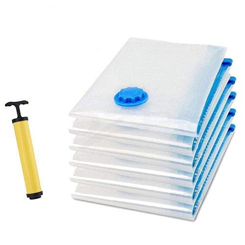 Vakuumbeutel Cherbell 6 tlg Set Aufbewahrungsbeutel Kleiderbeutel Vakuum-Platzsparer für Betten und Kleidung 3 L (100*70 cm) + 3 M (70*50 cm)
