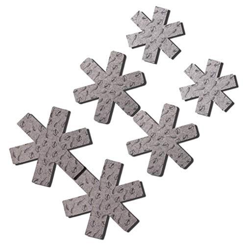 heliltd Pan Protectors Pads, Luxus Divider Pads, um Kratzer zu vermeiden, Oberflächen Ihres Kochgeschirrs zu trennen und zu schützen (6er Pack und 3 verschiedene Größen)