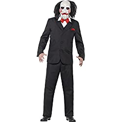 Smiffy's - Saw Jigsaw traje, color negro (20493S)