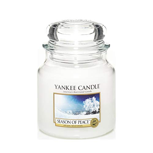 YANKEE CANDLE 1275352E Bougie senteur Season Of Peace en jarre Blanc