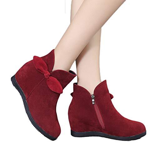 Stiefel Damen Boots Wildleder Stiefeletten Halten Warme Booties Frauen Keile Schuhe Nieten Schuhe Schneestiefel ABsoar