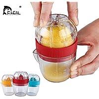 Uniqus FHEAL Citrus Squeezer with Lid Plastic Manual Lemon Juicer Press Cup Limes Hand Manual Fruit