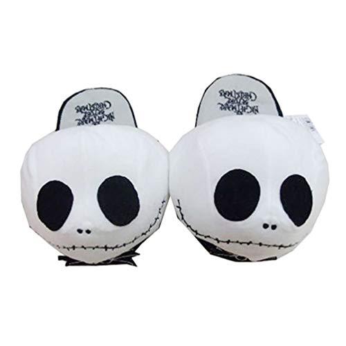 NACOLA Jack Skull Hausschuhe, lustige weiche Plüsch warme Hausschuhe für Nightmare Before ()