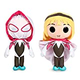 Peluche Spiderman Spider-Gwen con Cappuccio Maschera 27 cm Marvel Plush Toy