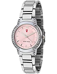 Swiss Trend Pink Dial Stainless Steel Analog Watch For Women