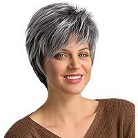 Parrucche Donna Corte Bianche Moda Capelli Bianchi E Grigi Parrucche  Sintetiche Resistenti Al Calore Hopping Partito... di Lovelyou 405421dc1c38