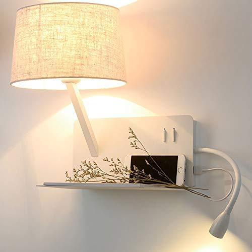 Tubo ajustable moderno USB Aplique luz LED Lámpara