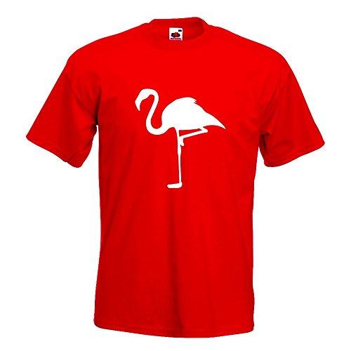 KIWISTAR - Flamingo auf einem Bein T-Shirt in 15 verschiedenen Farben - Herren  Funshirt