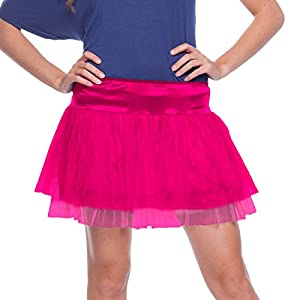 Folat 63684-Color Rosa tutú Neon Disco-Mujeres