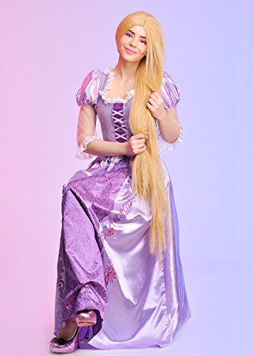 Magic Box Int. Erwachsenen Womens Disney Rapunzel Kostüm Large (UK 16-18) (Für Prinzessinnen-kostüme Erwachsene Disney)