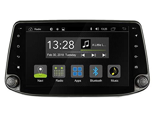 """Radical R-C10HY1 mit 9\"""" Touchscreen   Autoradio passend für Hyundai I30 mit 7.1 Android OS   vorbereitet für Navigation   FM Radio Bluetooth USB EasyConnect   Unterstützt OPS Klimastatus"""