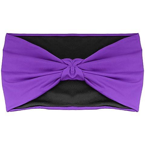 Headband for Men & Women, MoKo Versatile Solid Reversible Headband Multi-style Casual Sports Headwear, Stretchy Breathable Moisture Wicking Head Wrap for Workout, Running, Yoga & More - Black & Purple