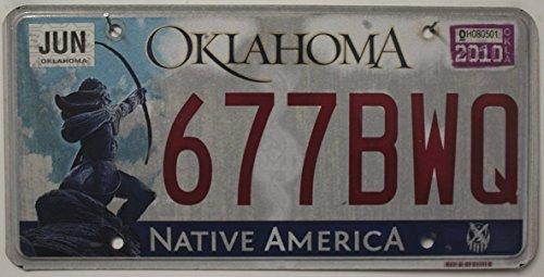 USA Nummernschild OKLAHOMA ~ US Kennzeichen Native America / SCHÜTZE MOTIV ~ Blechschild