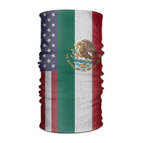 Ejjheadband USA Mexican Flag Multifunctional Bandana Elastic Turban Headwear Headscarf Usa Knot Turban